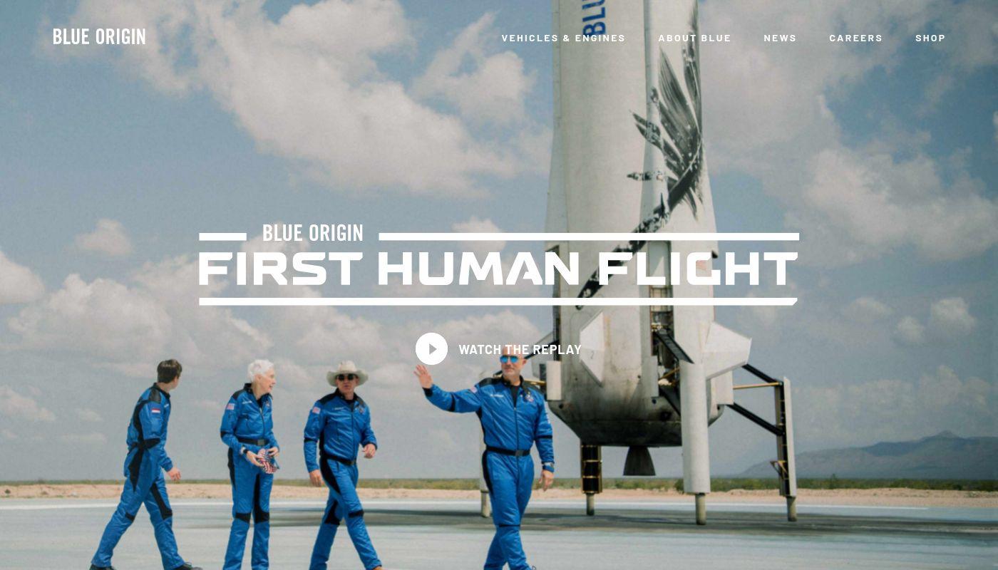 1) Blue Origin