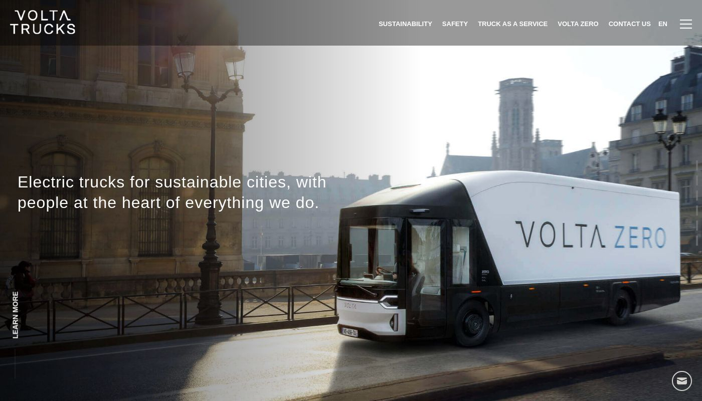 7) Volta Trucks