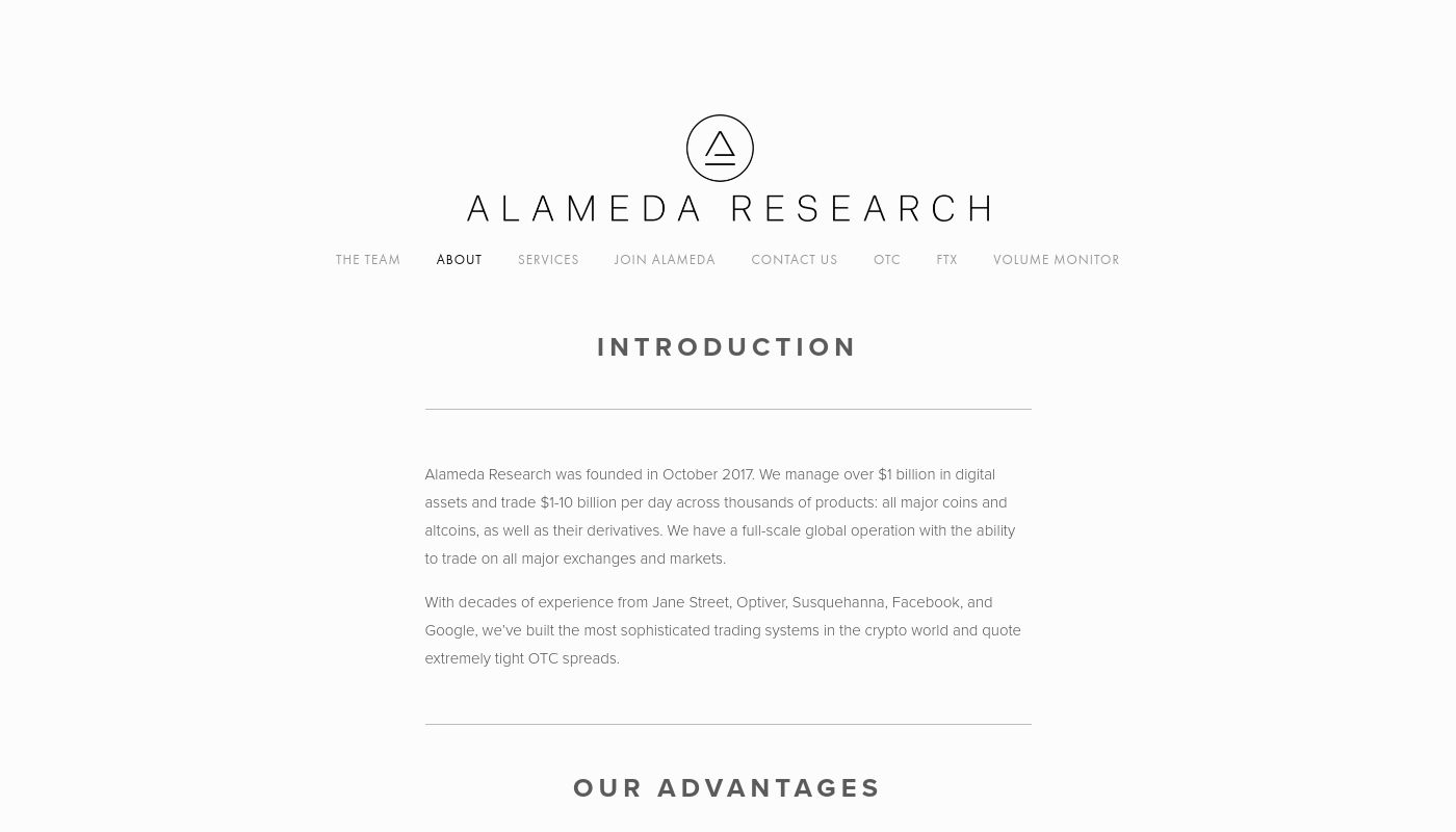 1) Alameda Research