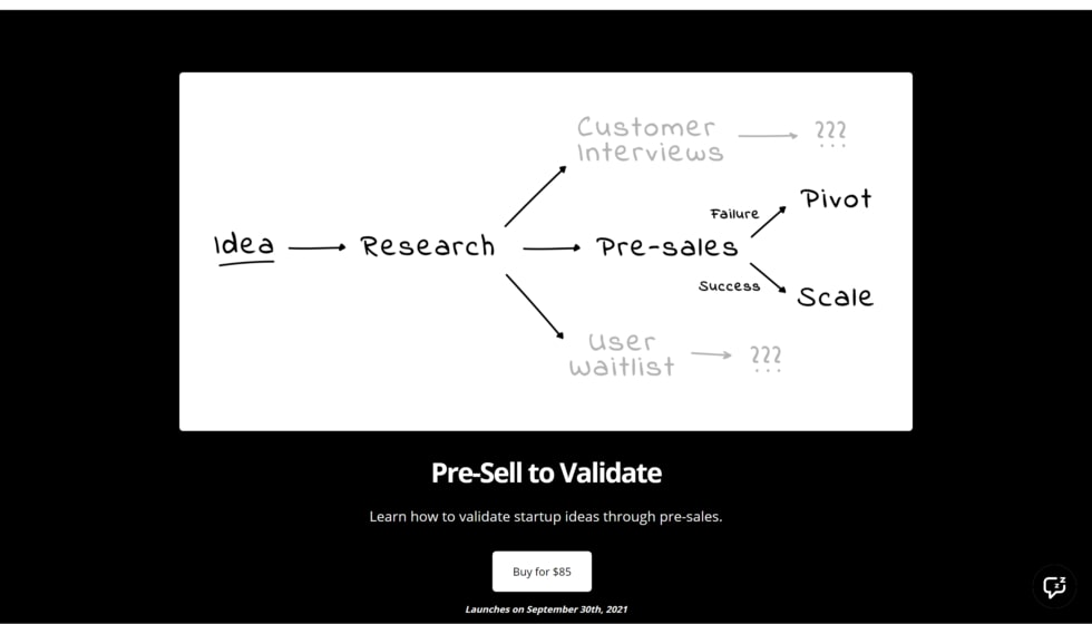 Entrepreneur courses #1: Pre-Sell to Validate