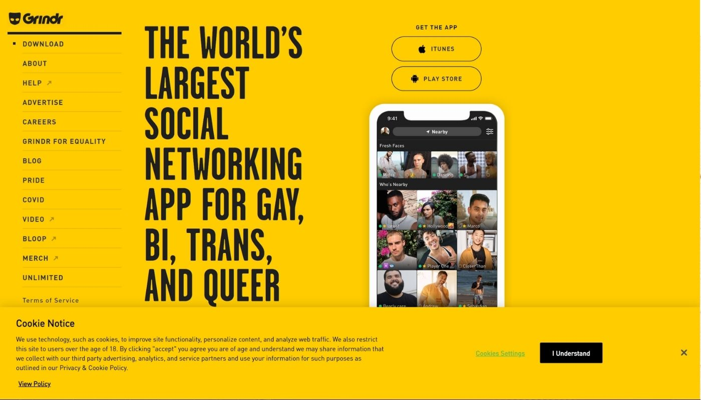 18) Grindr