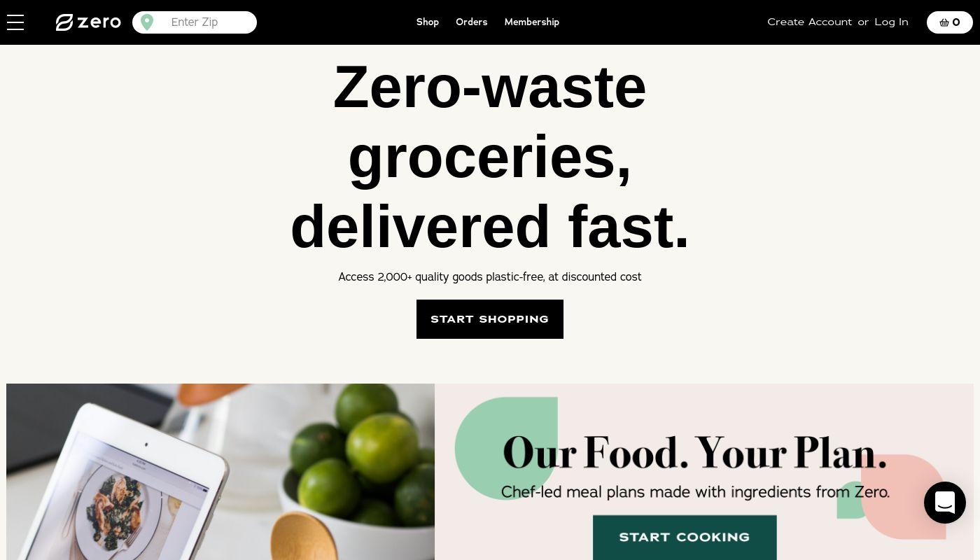 3) Zero Grocery