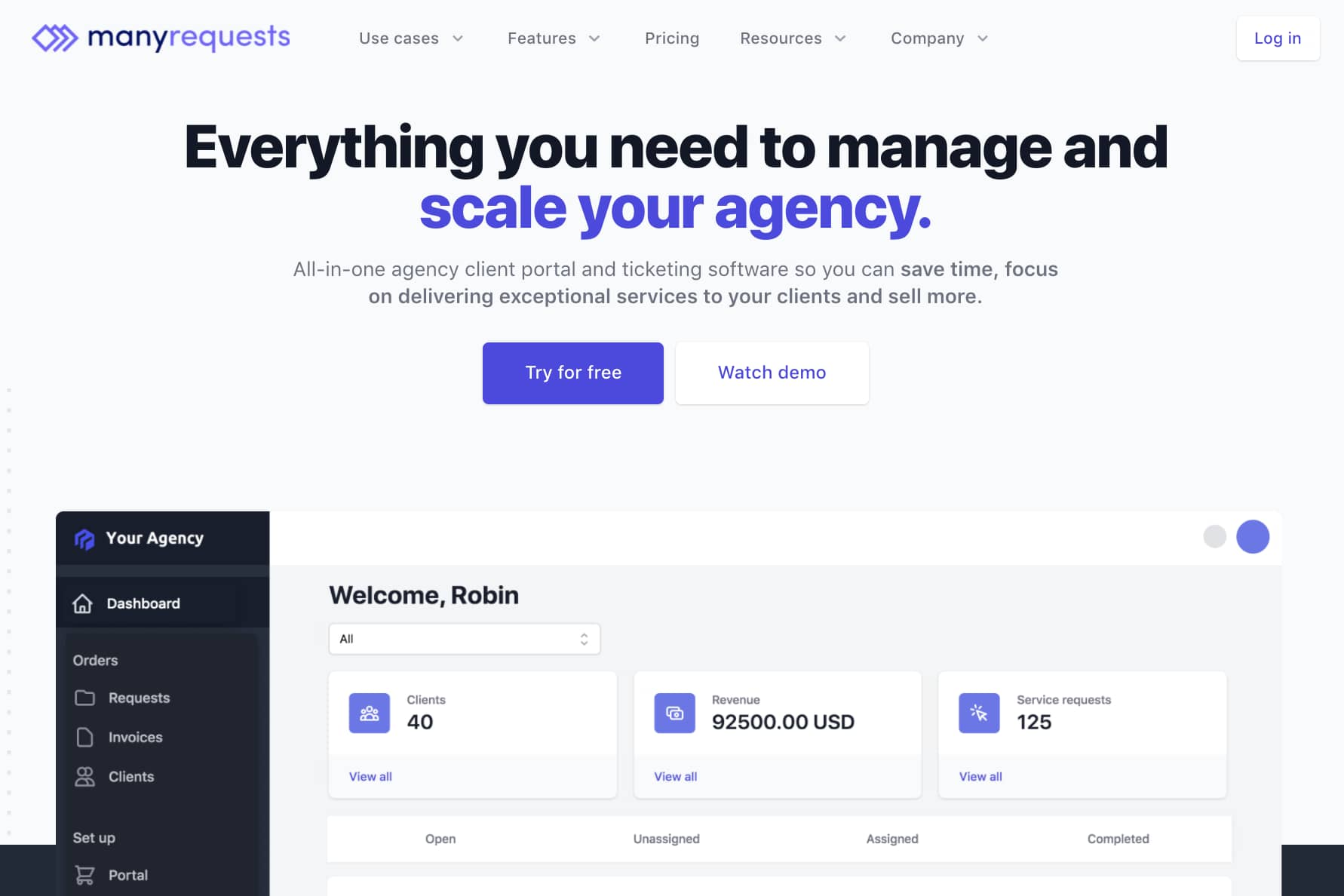ManyRequests Landing Page