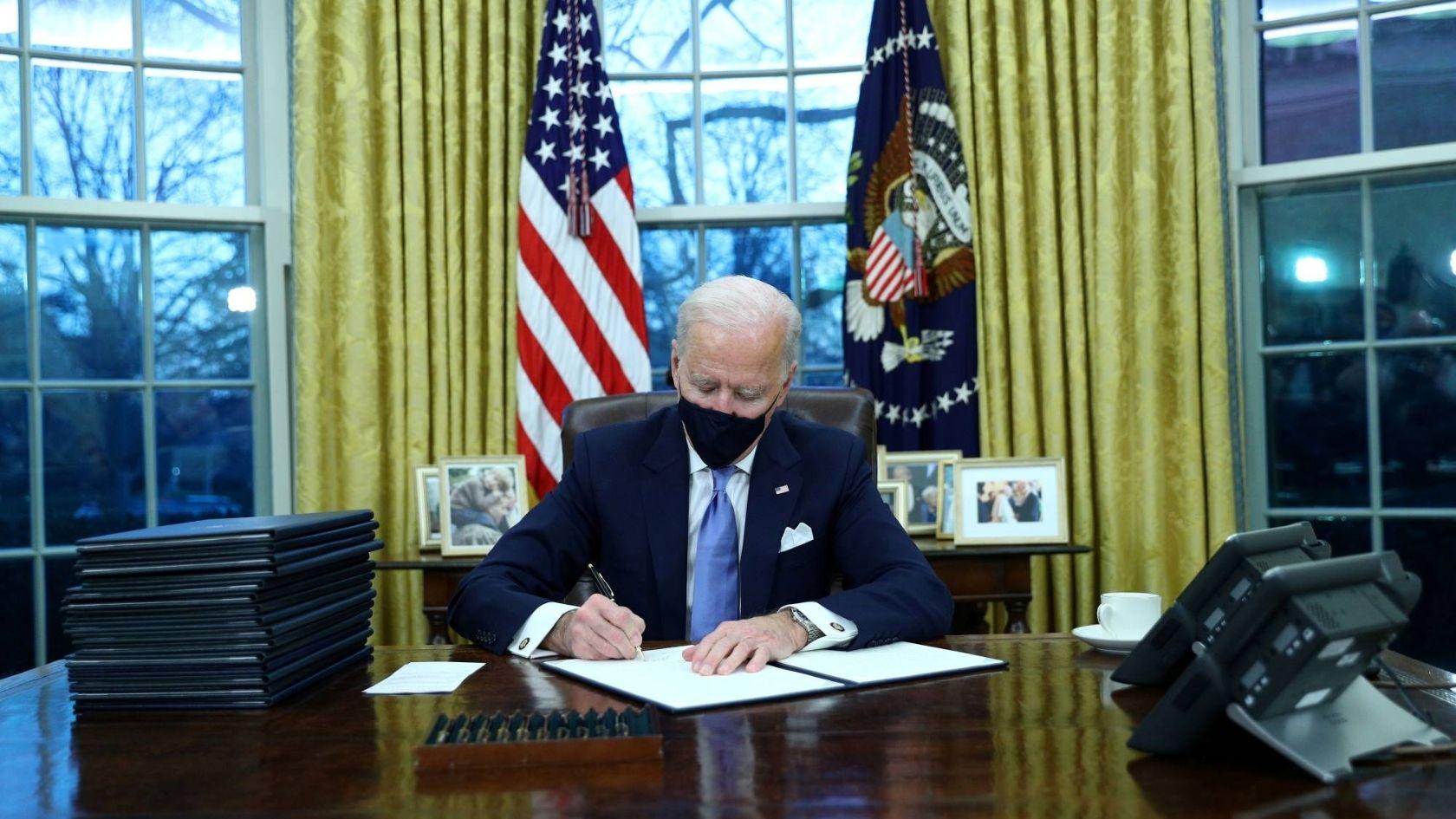 President Biden signs executive orders on Jan 21