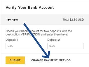 Change payment method image