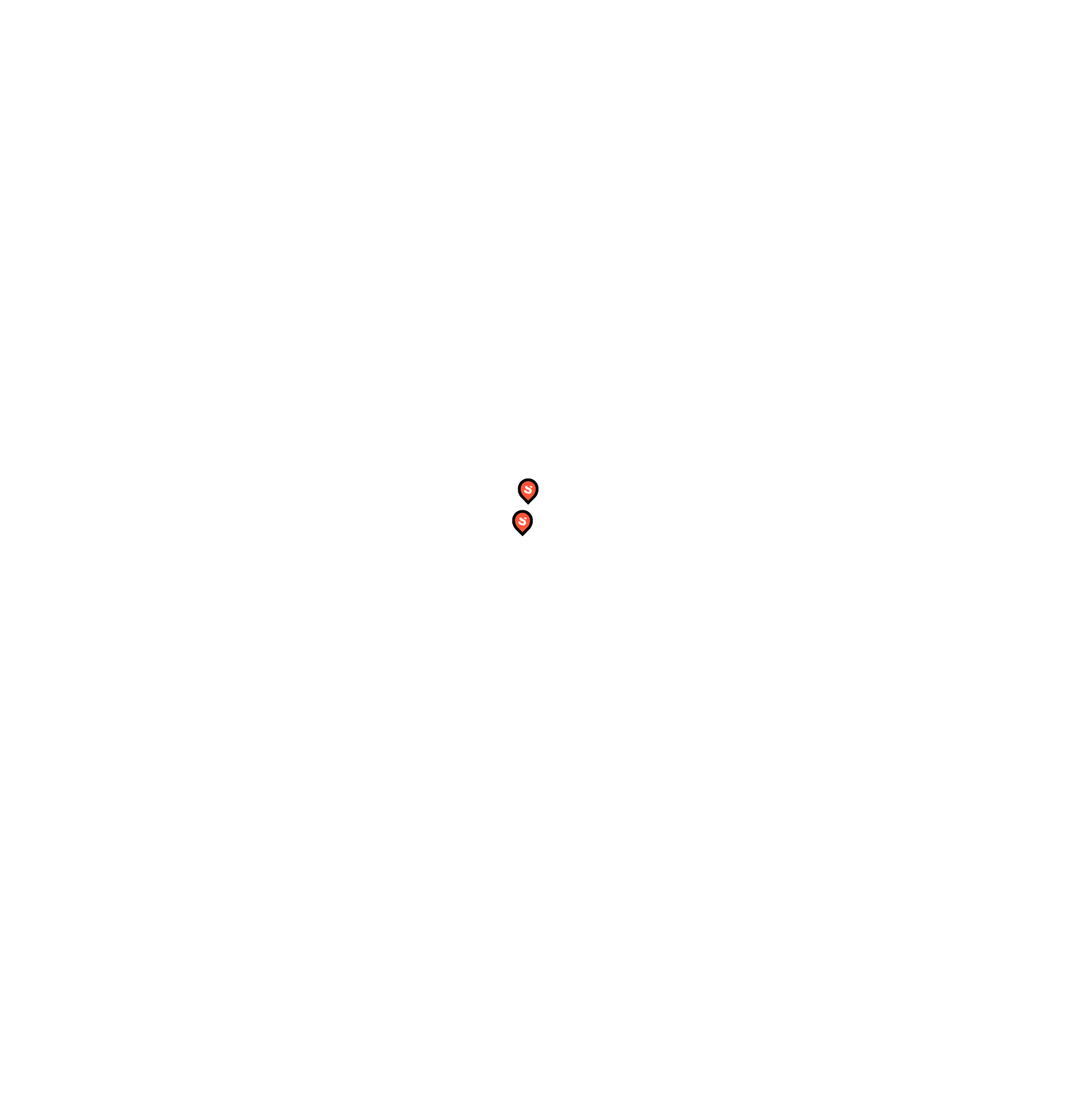 Black and white map of the CANADA