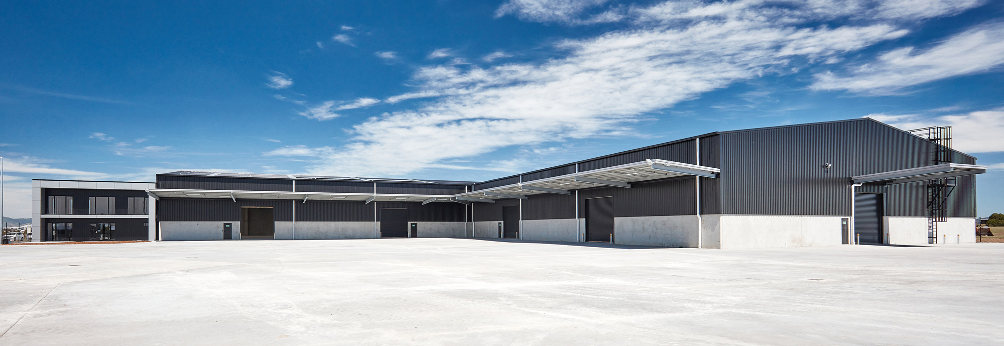 Outside of South Star - Ngai Tahu a building project with steel and concrete in Christchurch by Cohesive Group.