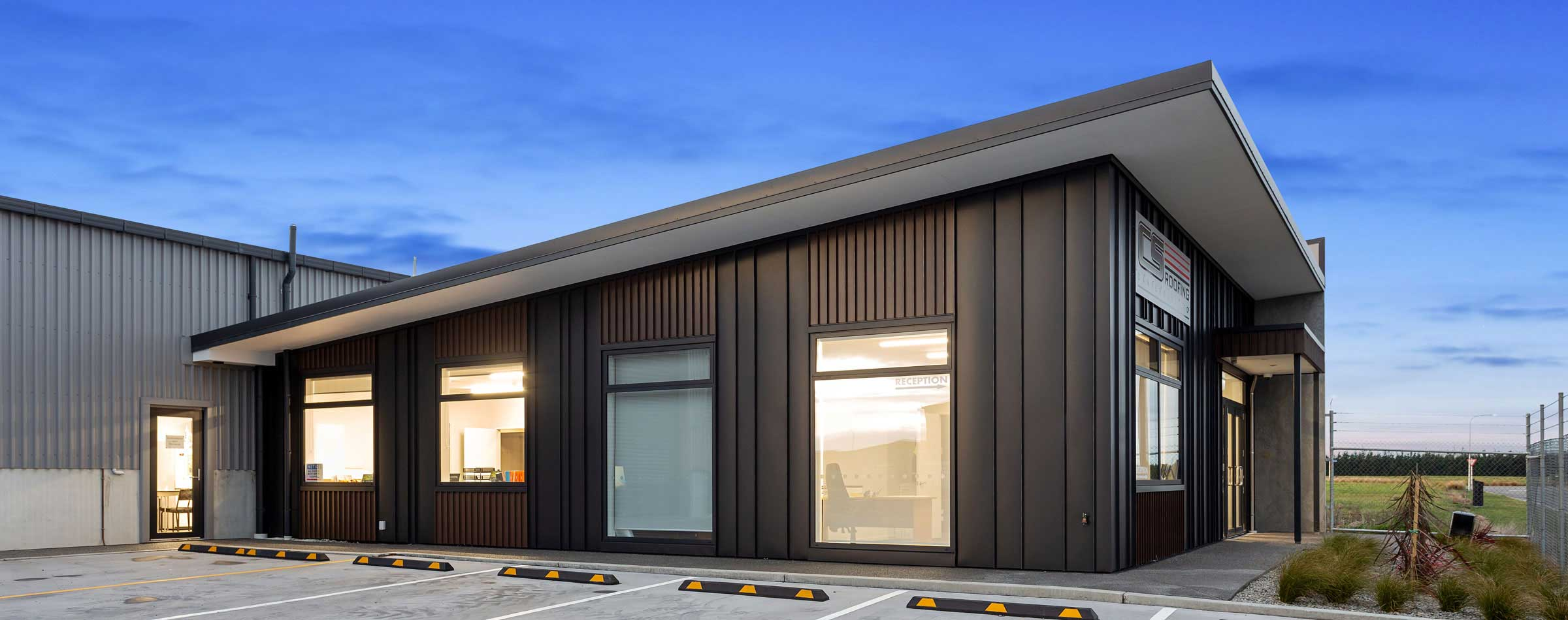 Large Construction project for Widespan sheds in Rolleston, New Zealand designed and built by Cohesive Group