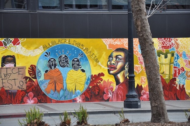 Black Lives Matter and racial justice street art