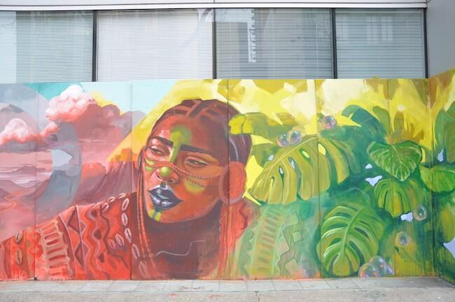 Racial justice street art