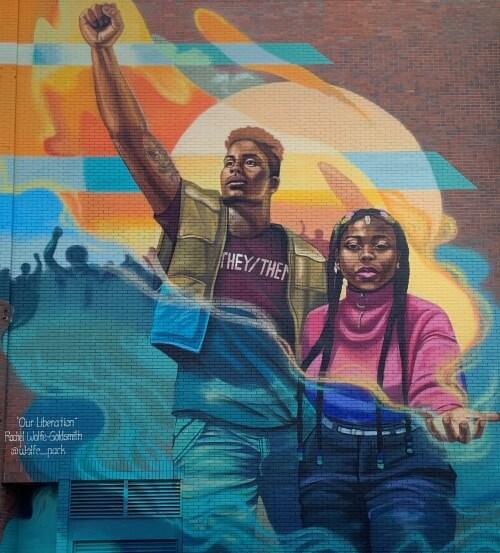 Black Lives Matter street art