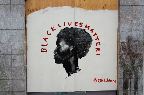 Black Lives Matter street art