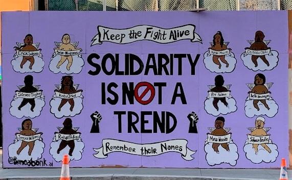 Black Lives Matter mural from San Francisco, CA