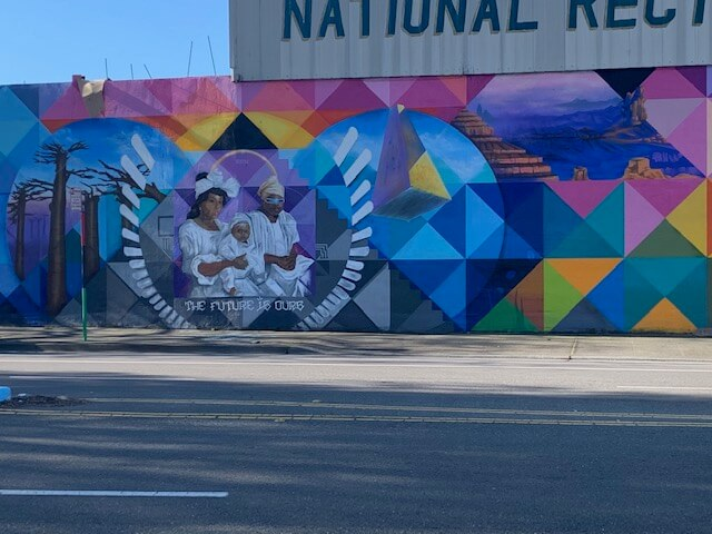 Racial Justice Mural in Oakland, CA
