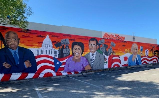 mural of civil rights leaders