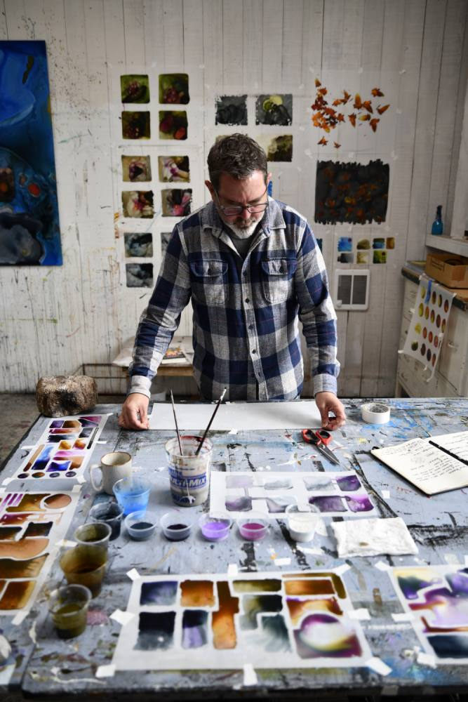 David Burke in his Studio
