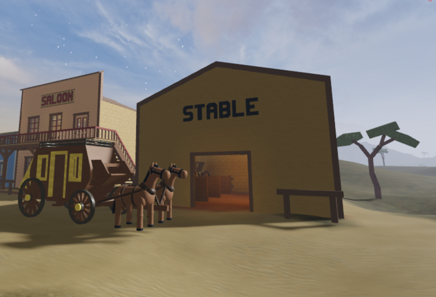 Design and create an old-fashioned Western town in Roblox Studio!