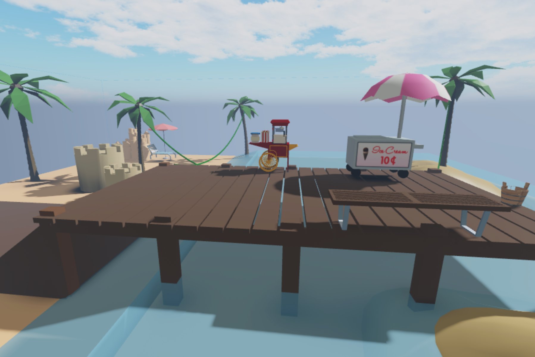 Team up with other Roblox builders to create a totally rad beach town!
