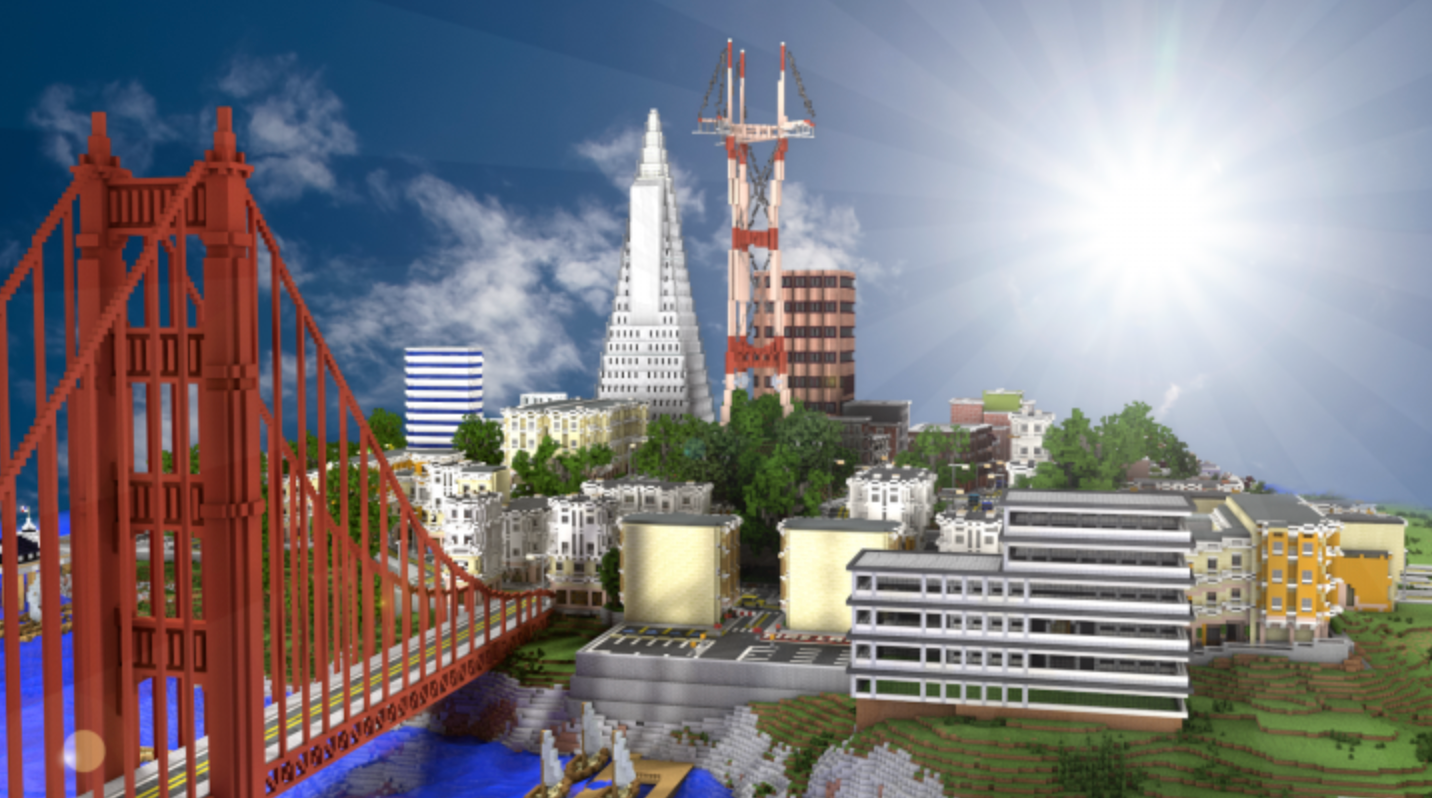 Join fellow Minecraft enthusiasts to recreate the City by the Bay!