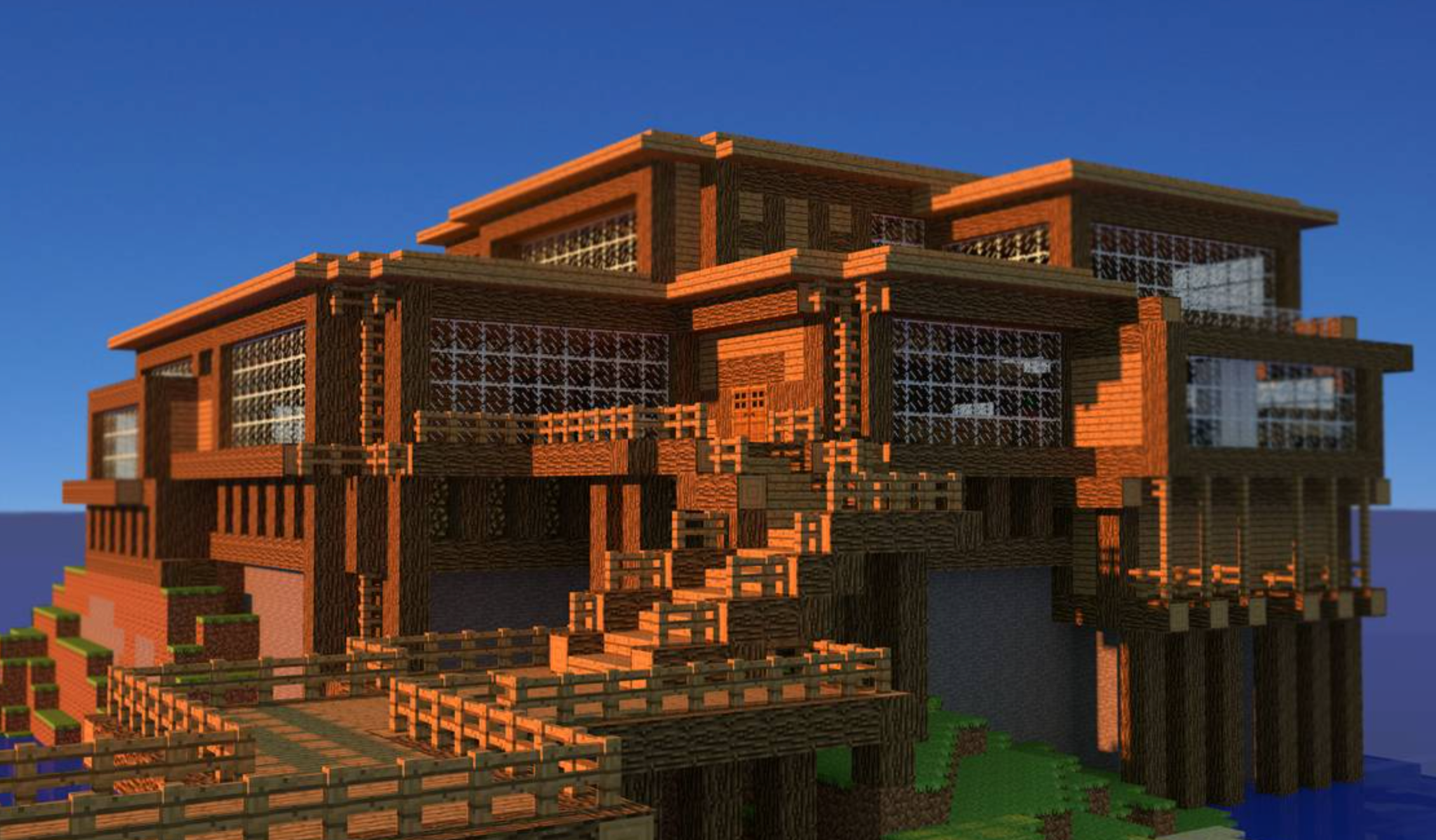 Come together with fellow Minecraft enthusiasts to create the mansion of your wildest dreams!