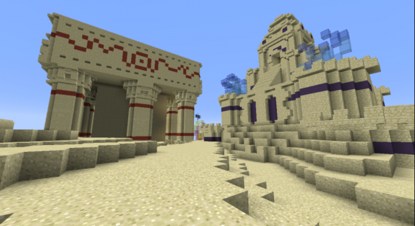 Join fellow Minecraft enthusiasts to design a new city in the middle of the desert!