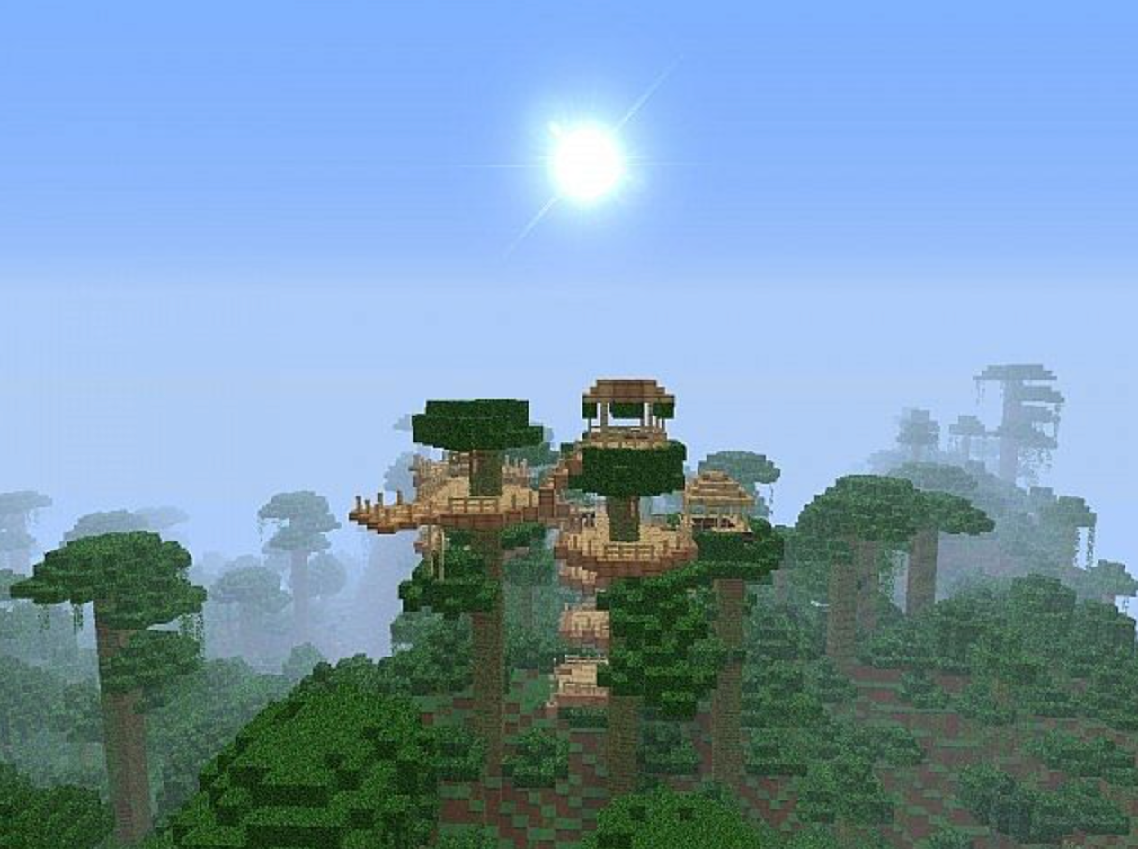 Join a team of Minecraft makers to build fantastic houses high in the treetops!