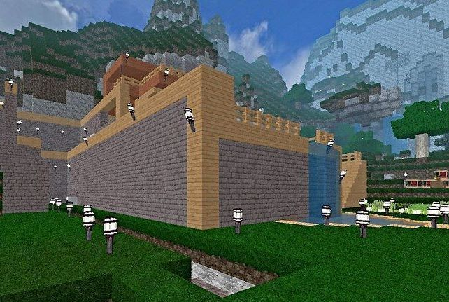 Construct an epic city filled with towering buildings as part of a team of Minecraft builders!