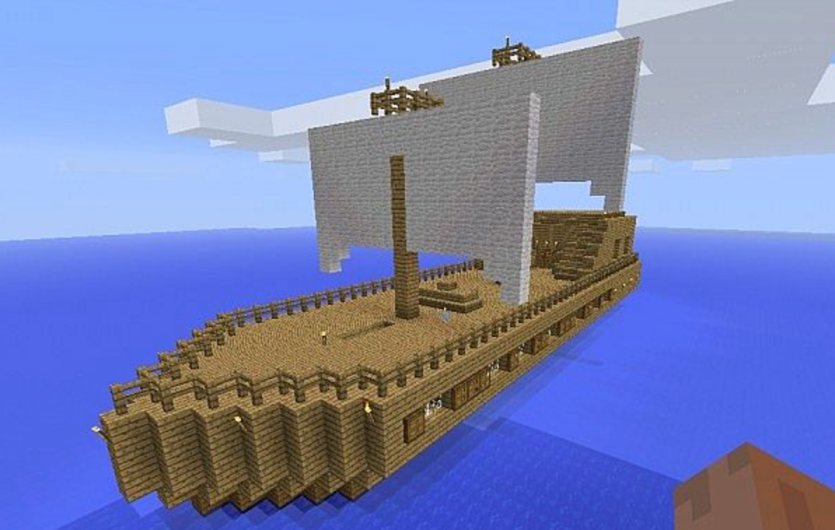 Build tall ships and sail the seas with a team of Minecraft makers!
