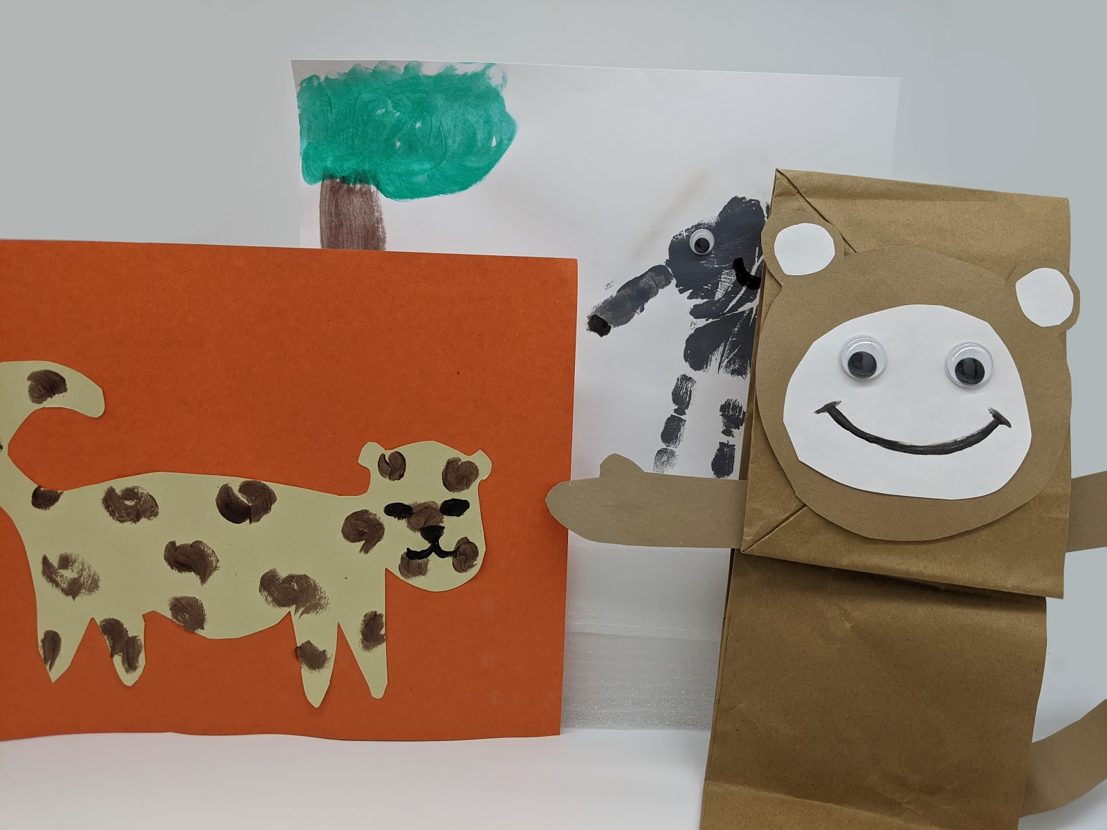 Learn about African animals like elephants and lions by making them in class!