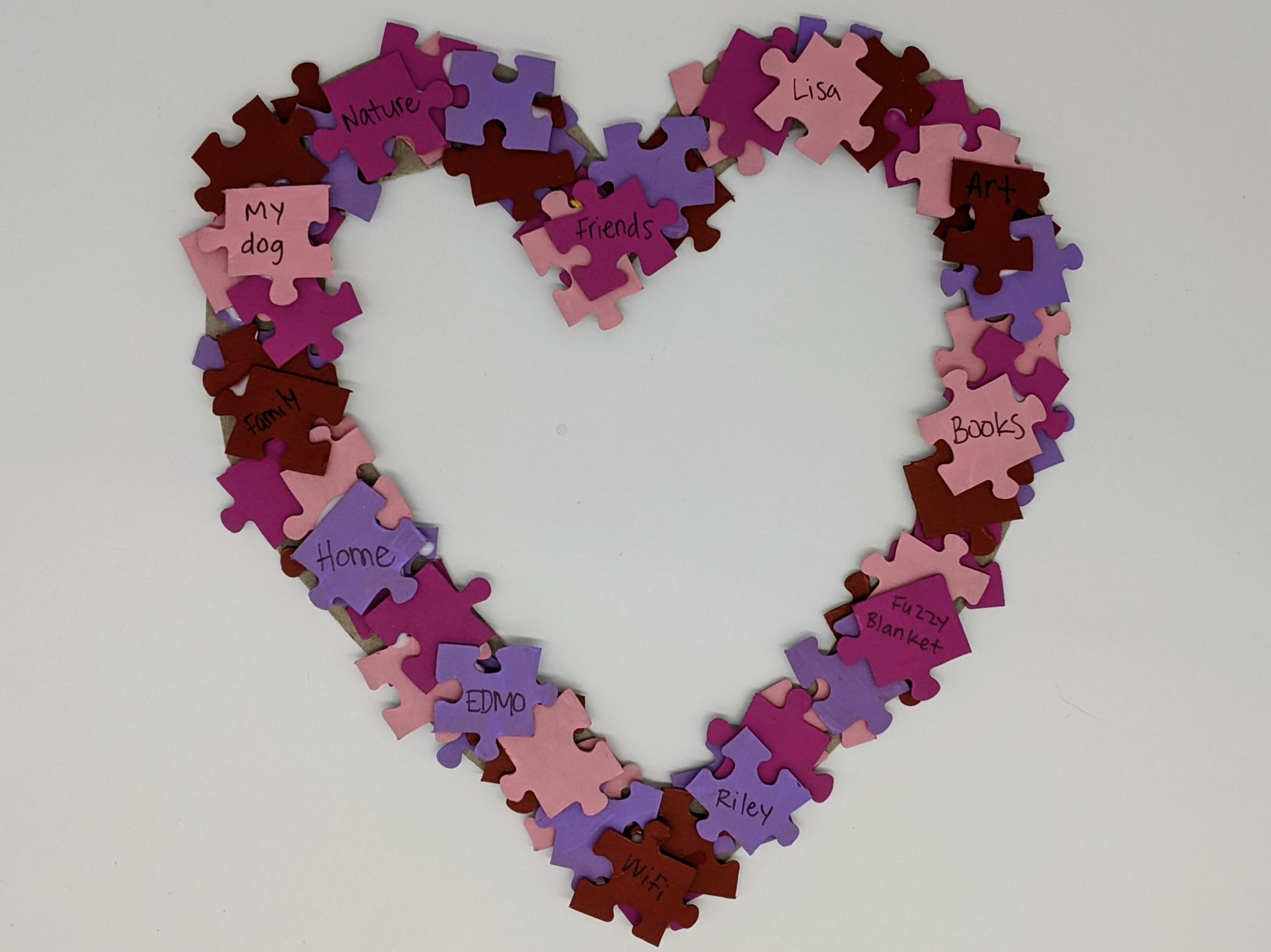 Transform an old puzzle or paper scraps into a beautiful wall hanging that expresses your love!