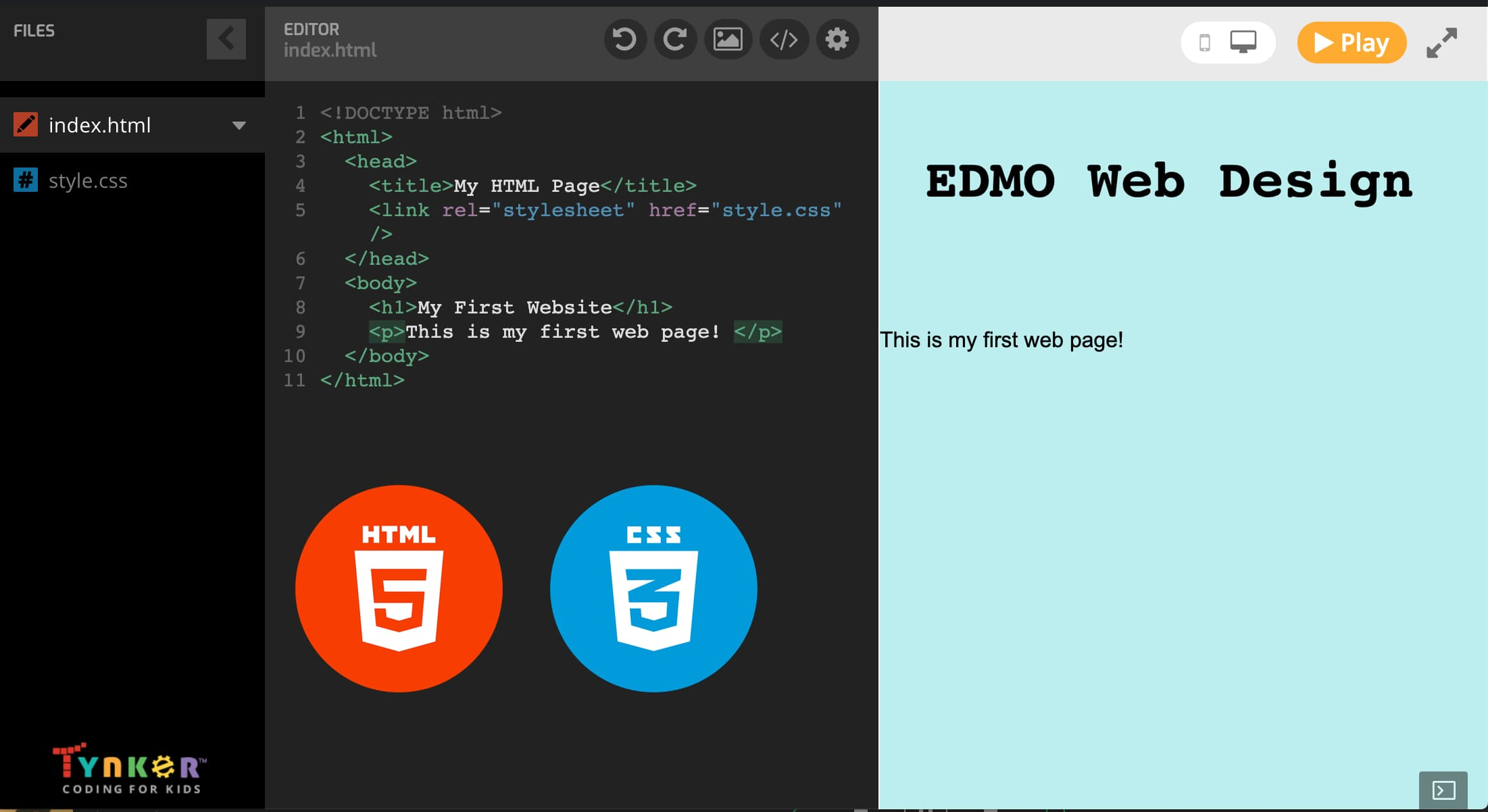 Learn the coding languages HTML and CSS and build your very own website!