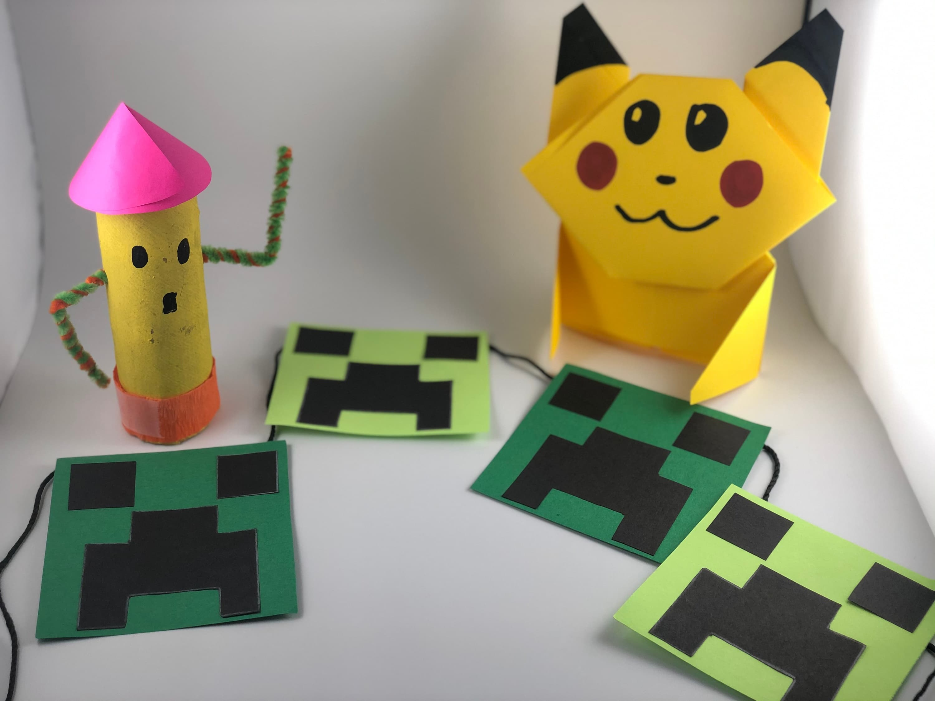 Craft characters from your favorite video games while learning about problem solving and building great personal character!