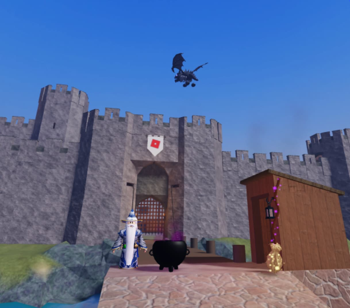 Play a series of magic-themed mini games in Roblox!