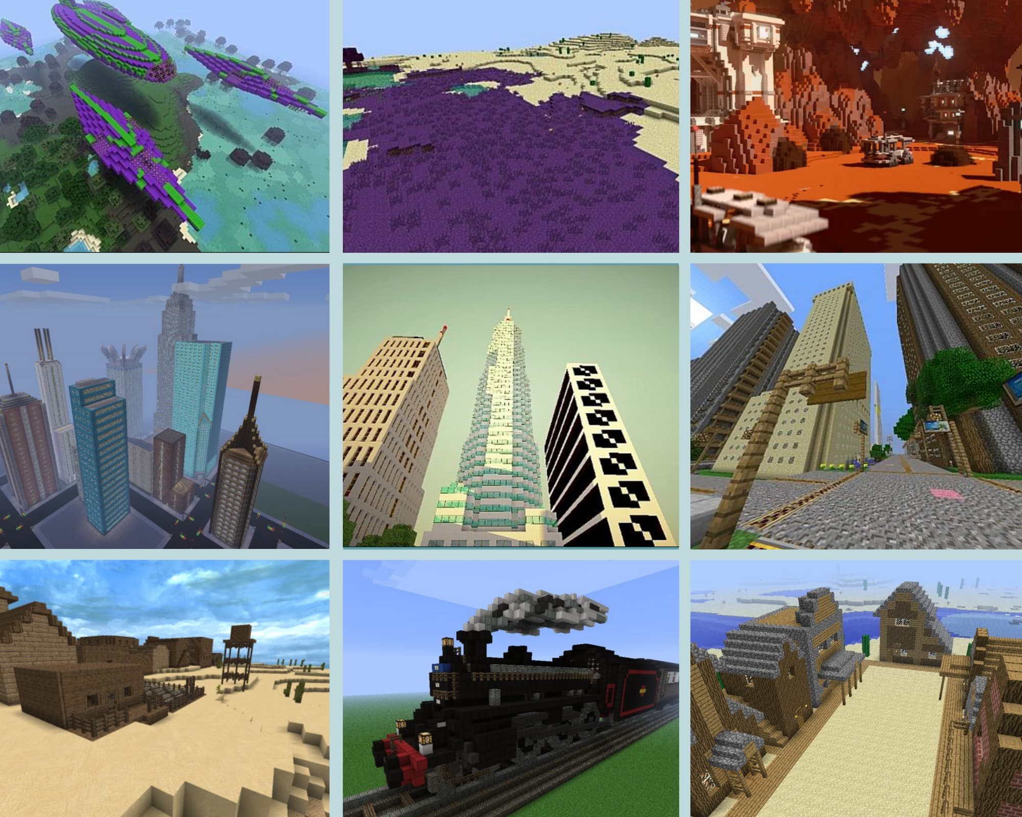 Join other Minecraft builders to construct amazing creations! Kids will collaborate while building together and creating community build projects.