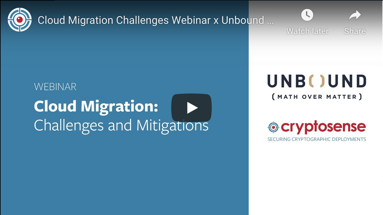 Joint webinar with Unbound Tech