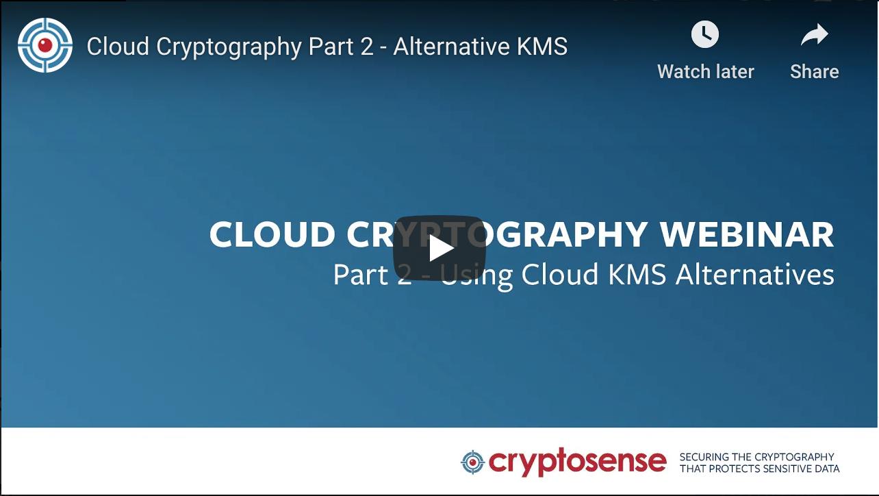 Cloud Crypto webinar