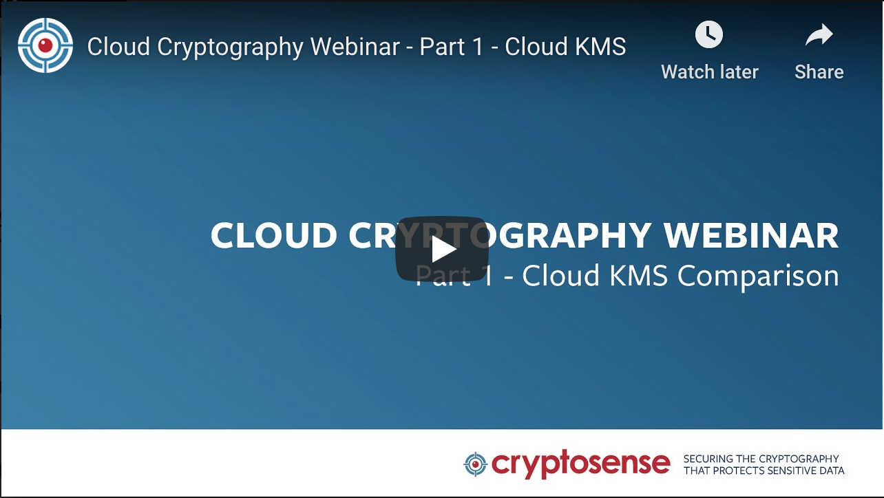 Cloud crypto webinar