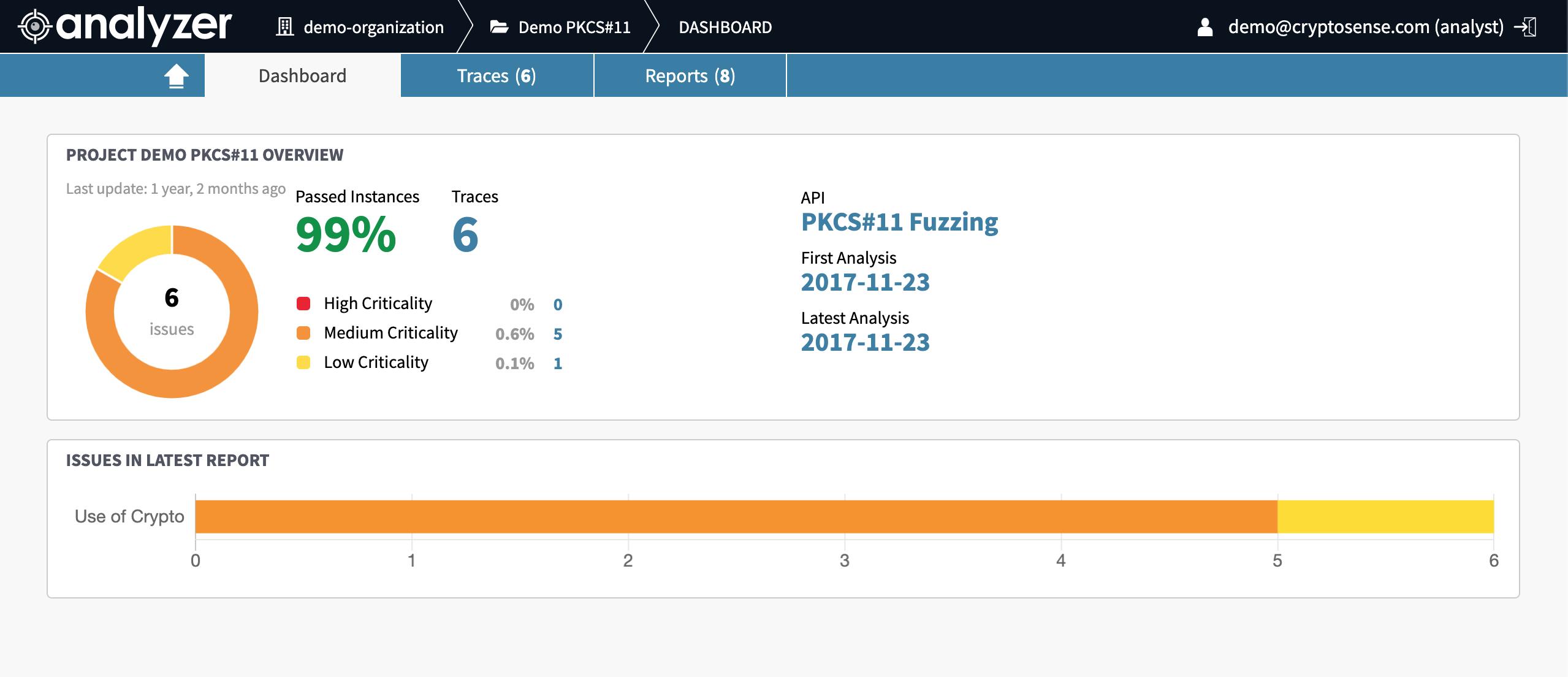 Analyzer screenshot