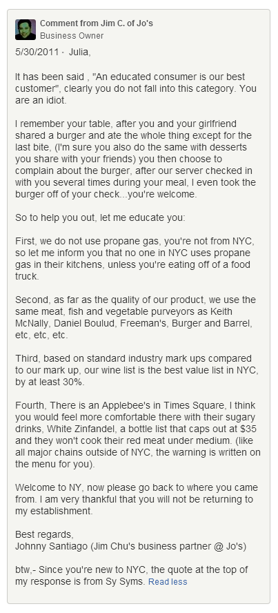 how to handle negative yelp reviews