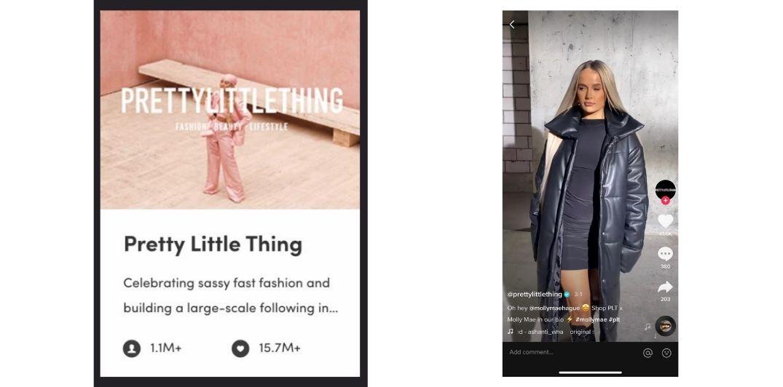 Pretty Little Thing TikTok Marketing example