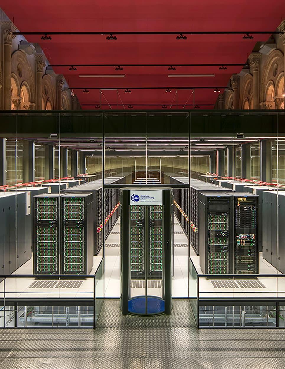 barcelona supercomputer in a church
