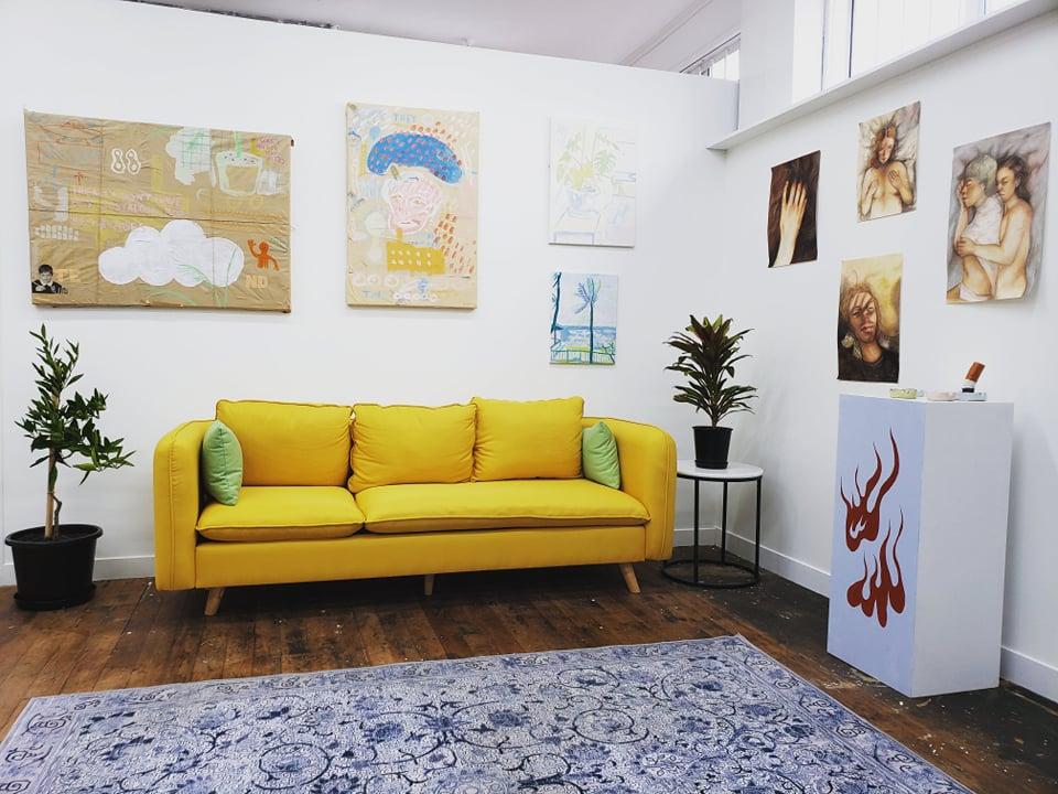 Interior lounge setting at NiceGoblins HQ