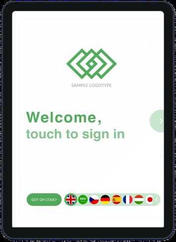Visitor self-registration tablet
