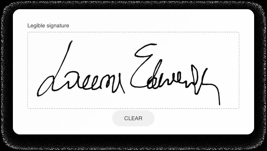 Digital visitor signature