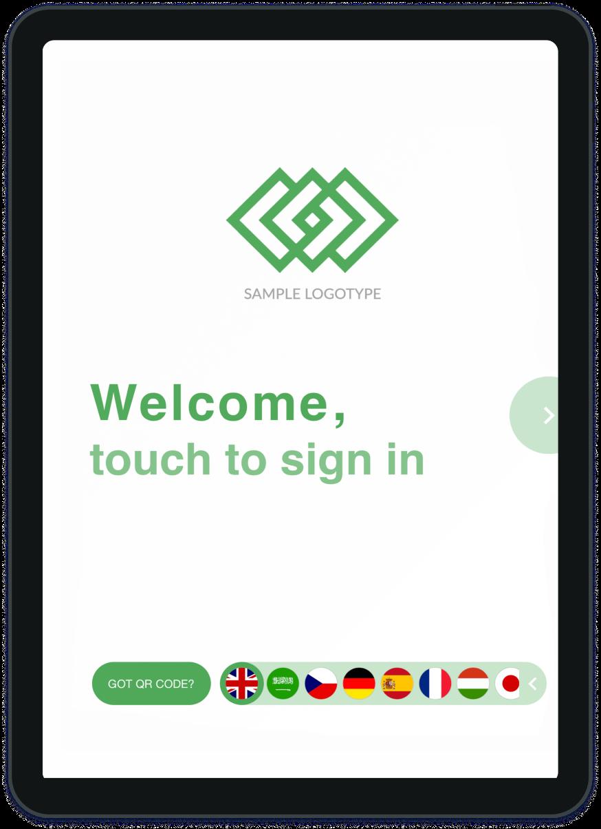 Visitor management tablet