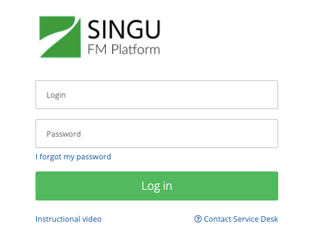 Singu login fields
