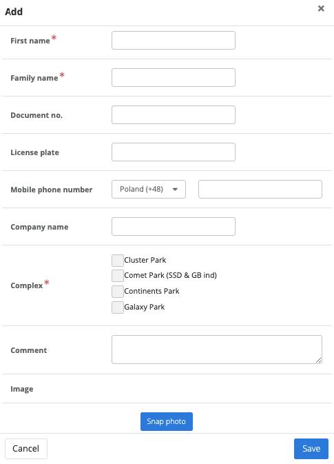 Watchlist form