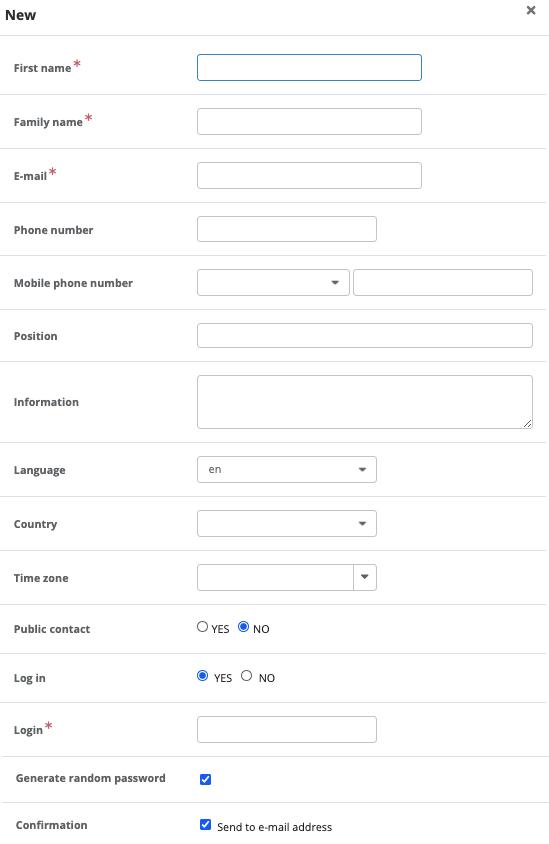 Adding a new person form
