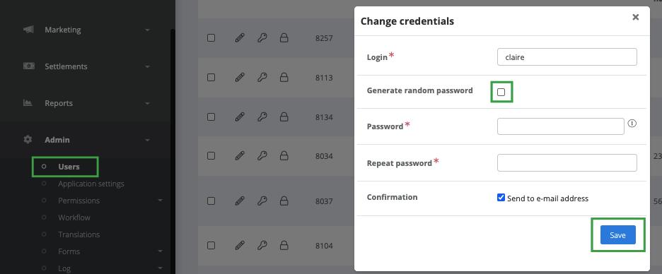 Generating random password for the user
