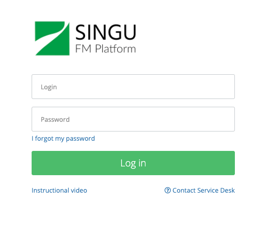 Login in to the application